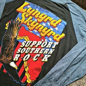 [LNM] Vintage inspired Lynyrd Skyward band top.